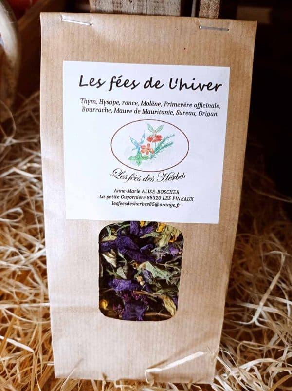 Infusion les Fées de l'hiver Saveurs et Couleurs primeur à Talmont Saint Hilaire